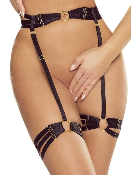 Provocative PR1631: Harness-Strapsgürtel, schwarz