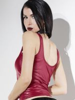 Coquette: Wetlook-Top, merlot