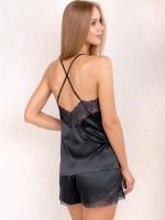 Anabel Arto: Hemdchen-Set, schwarz