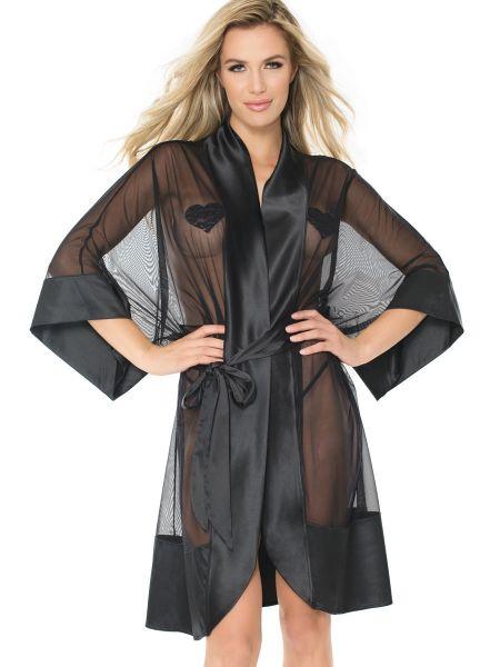 Coquette: Kimono, schwarz