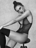 Bracli&G: Perlenstringbody, schwarz