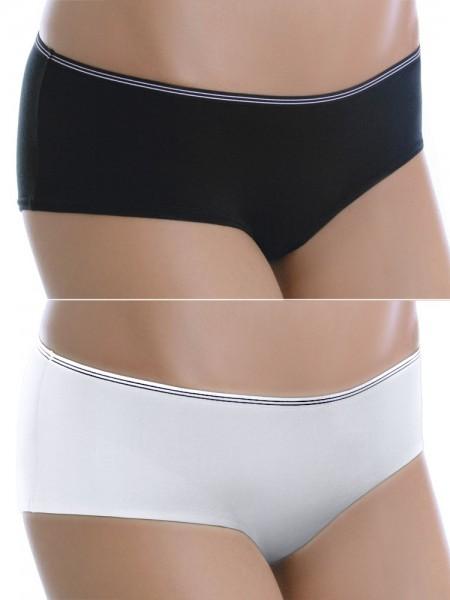 Sassa Cotton: Panty 5er Pack, weiß/schwarz