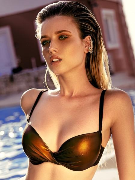 Anabel Arto: Bikini Top, braun/bronze