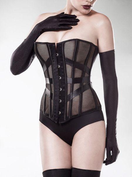Grey Velvet 15154: Netz-Corsagen-Set 3-teilig, schwarz