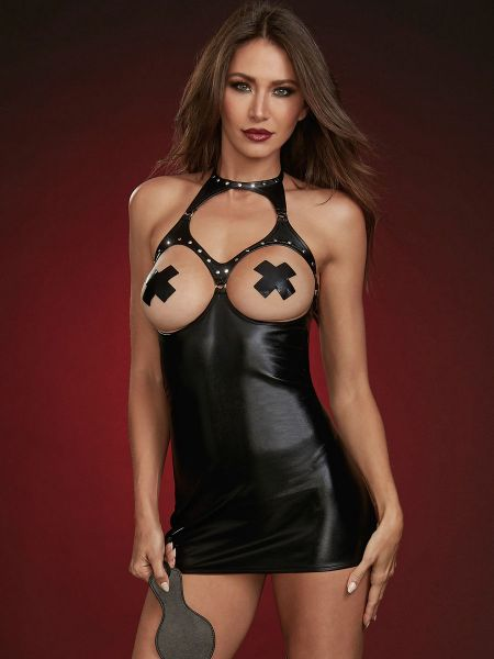 Dreamgirl Ouvert-Chemise, schwarz