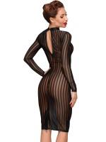 Noir Handmade: Langarm-Kleid F182, schwarz