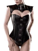 Grey Velvet Corsage 15307: Corsage mit Schulterelement, schwarz