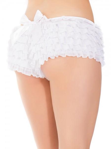 Coquette: Rüschen-Panty, weiß
