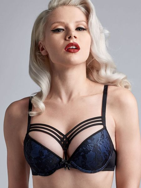 Marlies Dekkers Dame de Paris: Padded Push-Up BH, bijou blue