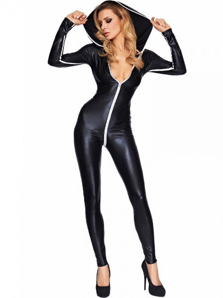 7-Heaven Wetlook-Catsuit: Sibate, schwarz
