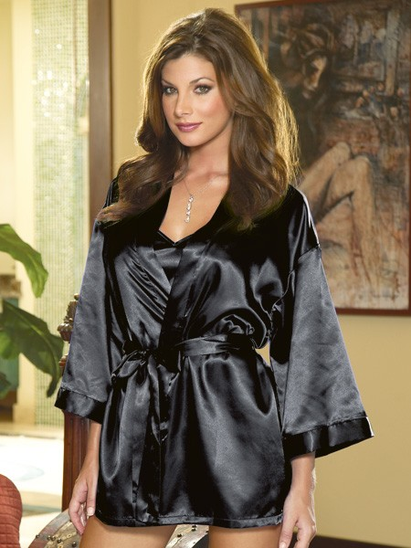 Dreamgirl Kimono & Negligé, schwarz