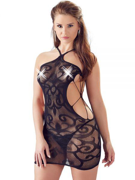 Minikleid, schwarz