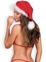 Obsessive Santastic: Weihnachtsmütze, rot/weiß
