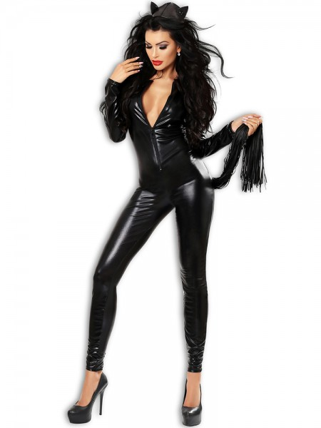 Lolitta Wetlook-Catsuit: Catchy, schwarz