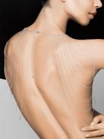 Bijoux Indiscrets The Magnifique: Körperkette für Schultern und Rücken, silber