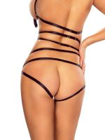 Provocative: Harness-Slip, schwarz