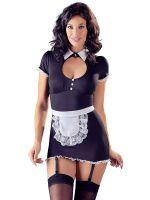 Servierkleid-Kostüm, schwarz/weiß