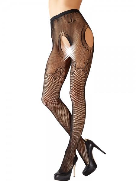 Ouvert-Netzstrumpfhose, schwarz