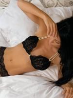 Bracli Begos: Perlen-BH, schwarz