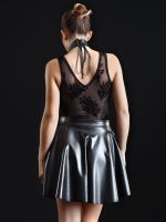Patrice Catanzaro Kat: Kunstleder-Minirock, schwarz