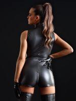 Patrice Catanzaro Erika: Kunstleder-Shortbody, schwarz