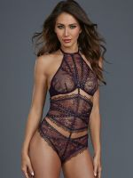 Dreamgirl Stringbody, aubergine