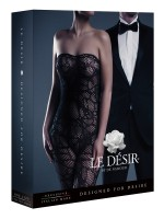 Le Désir Alina: Netz-Catsuit, schwarz