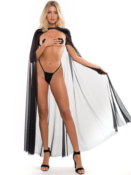 Adore Chloe: The Kiss Me Again Sheer Cape, schwarz