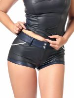 Patrice Catanzaro Lonnie: Wetlook-Shorty, schwarz