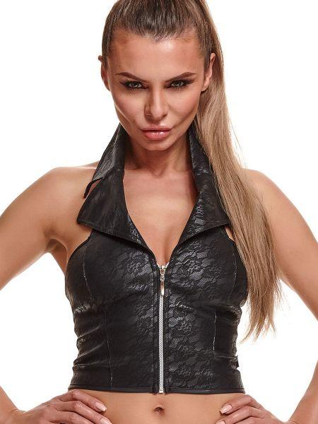 Demoniq Ludmila: Zip-Top, schwarz