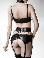 Grey Velvet 14507: Ouvert-Strapsset 3-teilig, schwarz