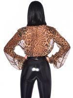 Patrice Catanzaro Violeta: Chiffon-Bluse, leopard