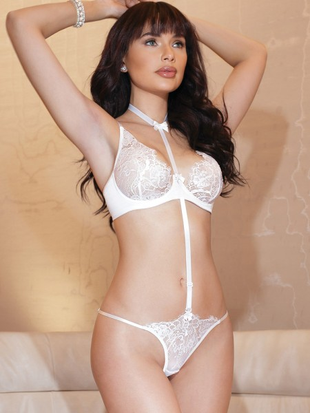 Coquette Body/Dessousset: Bridal White, weiß