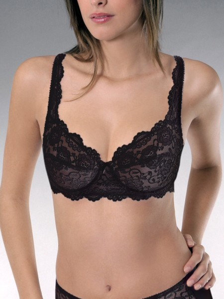 Sassa Classic Lace: Bügel-BH, schwarz