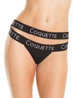 Coquette: Slip, schwarz
