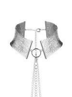 Bijoux Indiscrets Désir Métallique: Halsfessel mit Kette, silber