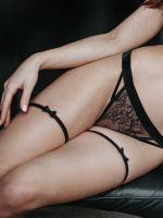 Petite Noir: Strumpfbänder mit Schleife 2118, schwarz