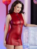 Minikleid mit Strassreißverschluss, rot