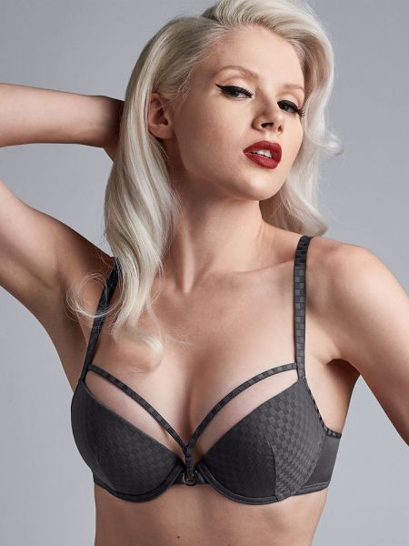 Marlies Dekkers Space Odyssey: Padded Push-Up BH, checkered steel