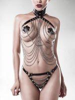 Grey Velvet 15138: Ketten-Harness-Set 3-teilig, schwarz
