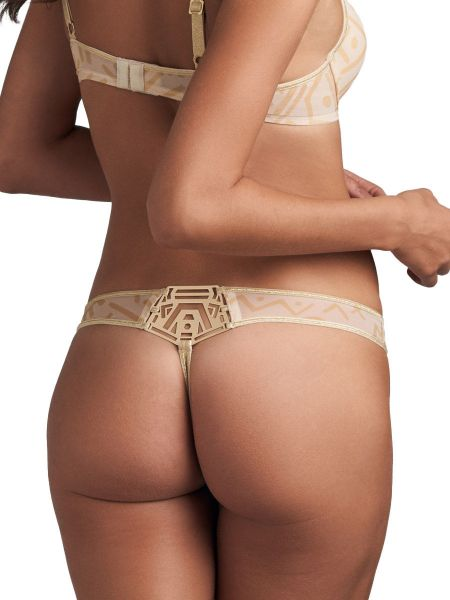 Marlies Dekkers Golden Karo: String, egyptain gold/ivory