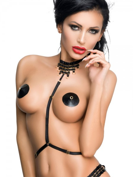 MeSeduce Body Harness OP09, schwarz