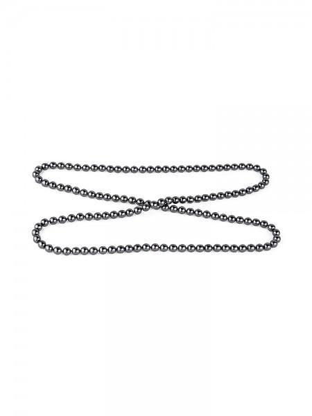 Bracli Atame: Perlenkette, schwarz