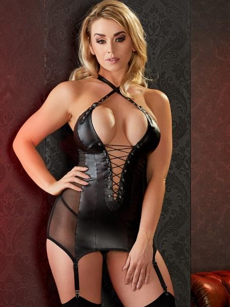 Strapskleid, schwarz