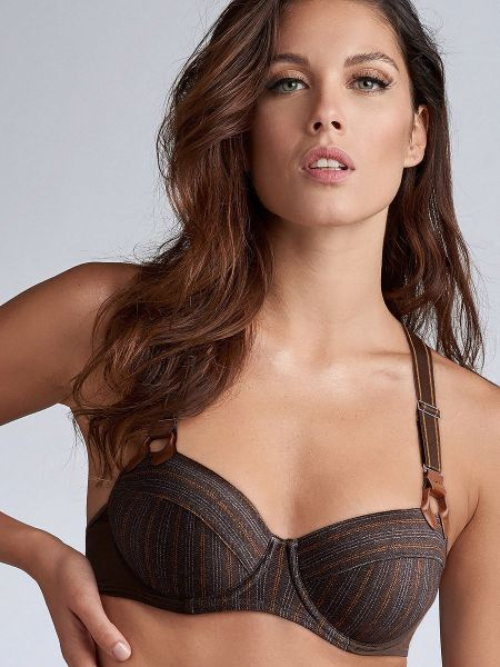 Marlies Dekkers Gloria: Padded Plunge Balcony BH, tweed print