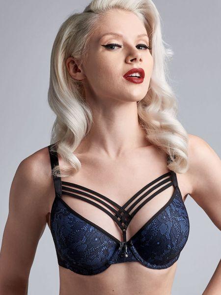 Marlies Dekkers Dame de Paris: Padded Plunge BH, bijou blue