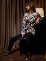 COEMI Up all Night: Pyjama, midnight fleur/schwarz