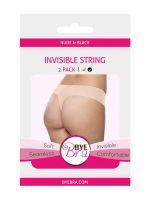 Bye Bra Invisible String: String im 2er Pack, nude + schwarz