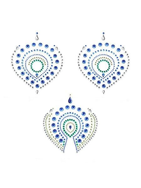 Bijoux Indiscrets Flamboyant: Bodysticker, grün/blau