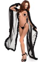 Adore Skye: The French Kiss Cape, schwarz